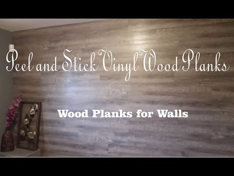 DIY - Peel and Stick Vinyl Wood Planks for Walls