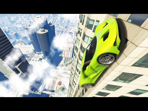 CAN YOU DRIVE UP THE TALLEST BUILDING IN GTA 5?! (GTA 5 Funny Moments)