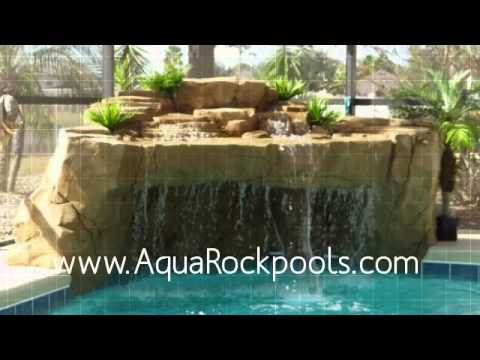 Swimming Pool Waterfalls Design Ideas Grottos : How To Choose A Waterfall  For Your Pool