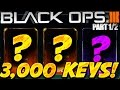 "GOT A NEW WEAPON! 3000 CRYPTOKEY SUPPLY DROP OPENING Black Ops 3 - BO3 ""EPIC/LEGNEDARY WEAPON"" HUNT"