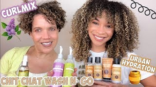 Urban Hydration Honey Growth & Repair + Curlmix Wash N' Gos | Trying New Things!