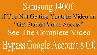 Bypass Google Account Samsung J400f || Unlock Frp Android 8.0.0 Oreo Urdu/Hindi