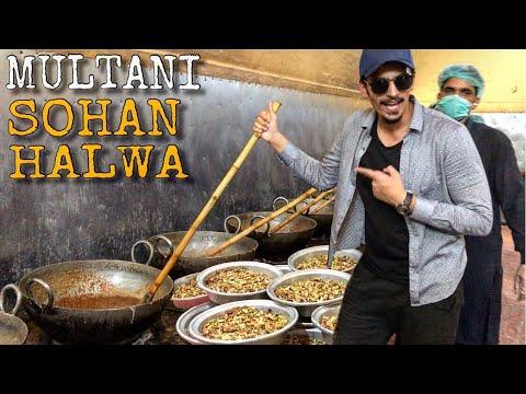 BEST MULTANI SOHAN HALWA - PAKISTANI STREET FOOD IN MULTAN