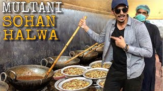 PAKISTAN'S BEST MULTANI SOHAN HALWA - PAKISTANI STREET FOOD IN MULTAN