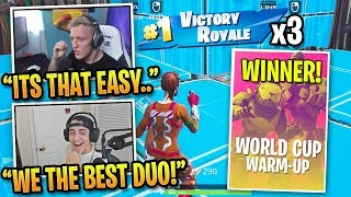 Tfue & Cloak Win 3 Games in World Cup Warm Up FINALS!