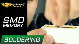 SMD memory soldering - how to do it correctly?