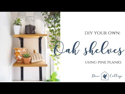DIY Scaffold Board Shelves from £6 Pine Planks