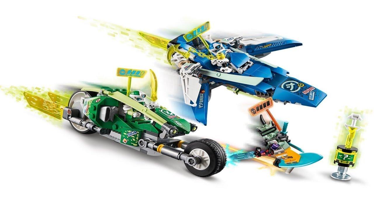 Download LEGO instructions - Ninjago - 71709 - Jay and Lloyd's Velocity Racers