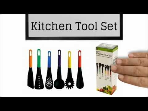 Kngluv 6 piece kitchen tool set youtube for Lagostina kitchen tool set 8 pc