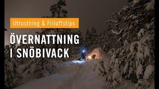 Skogstur med övernattning i snöbivack