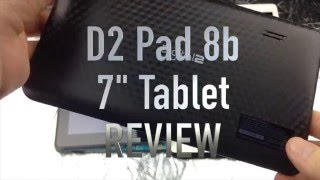 "D2 Pad D2-741G 7"" 8GB Android 4.4 Tablet REVIEW"