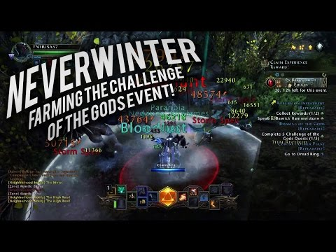 Neverwinter: Farming the Challenge of The Gods event (mod 9)