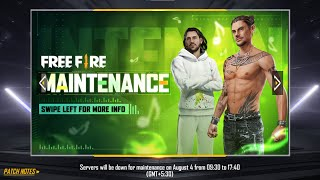 Free Fire 4th August All New Update, Game is Not Opening | Garena Free Fire 2021