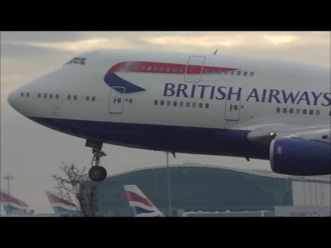 Early Morning Arrivals at London Heathrow Airport, LHR | 21/01/16