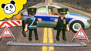 ⭕ PLAYMOBIL POLIZEI - Polizei Straßensperre - Spielzeug auspacken & spielen - Pandido TV