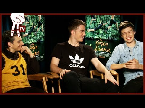 Moises Arias and Nick Robinson at the KINGS OF SUMMER junket - EXCLUSIVE INTERVIEW