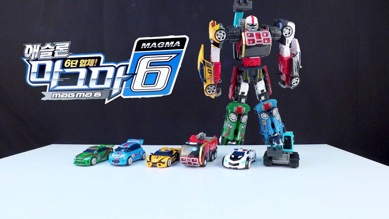 [With Kids]Tobot 6Combo Giant Transformation Car Robot Toys Review #2