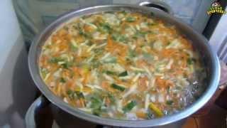 Семья Бровченко. Суп с галушками. Рецепт.(Делюсь рецептом супа с галушками, который недавно узнала сама. Суп получается очень нежным, сытным и вкусны..., 2015-08-15T09:20:05.000Z)