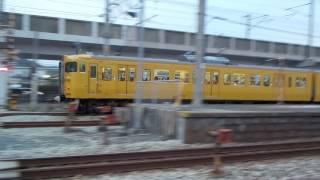 鉄道施設【第一種踏切】山陽本線・東岡山駅構内・窪田踏切