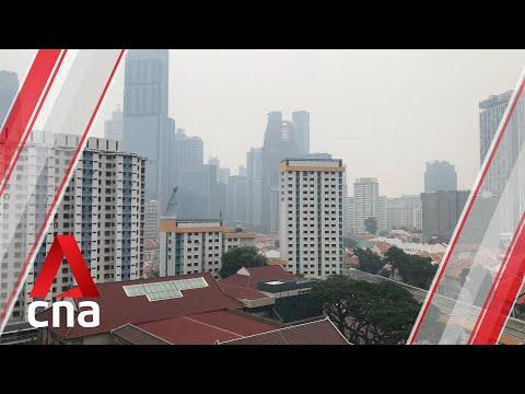 Hazy Skies Across Singapore As PSI Crosses Into Unhealthy Level