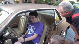 Young heart recipient who nearly died surprised with 1965 Mustang