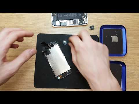 Apple iPhone 5c screen replace and clean full video guide