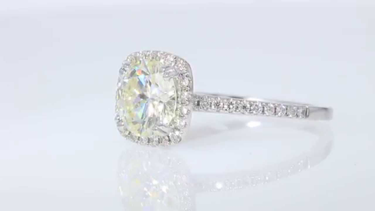 20CT Round Brilliant Diamond Odelia 18kt Engagement Ring IGI Cert
