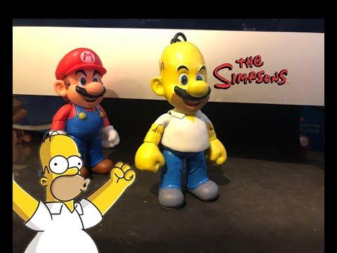 Making Homer Mario (CUSTOM!!) The Simpsons toys custom toys world of nintendo