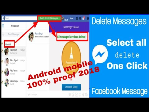 How To Delete All Facebook Messages At Once In Mobile/ One Click Delete, How To Hindi 2018 Tech Fb