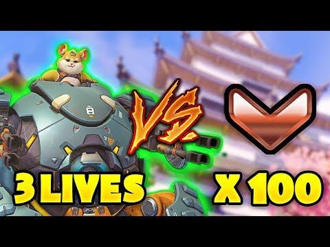 1 Top 500 RAIDBOSS vs 100 BRONZE - Who Wins? [OUR BEST GAME EVER!] - Overwatch
