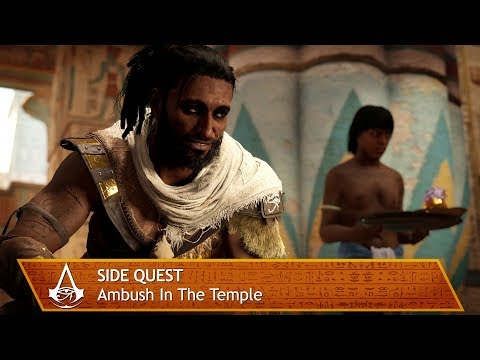 Assassin's Creed Origins - Side Quest - Ambush In The Temple