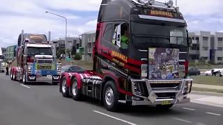 Massive truck convoy in Canberra Australia