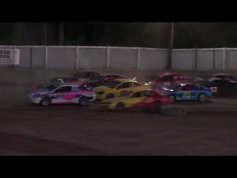 Old Bradford Speedway Mini Stock Flip 7-8-18