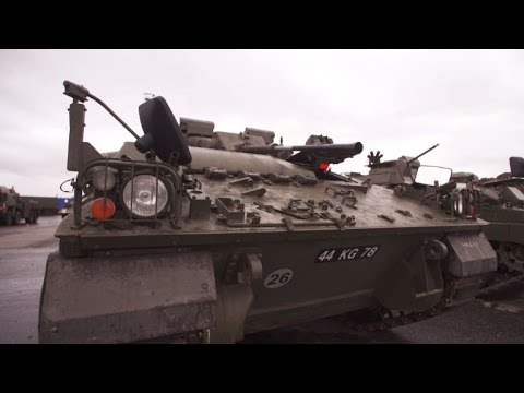 British tanks join NATO battle group in Estonia