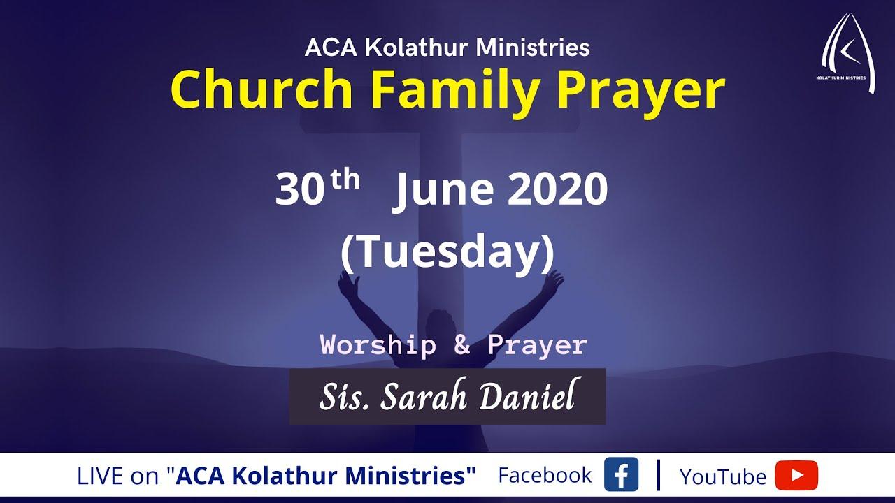 Church Family Prayer (30.062020)   Sis.Sarah Daniel