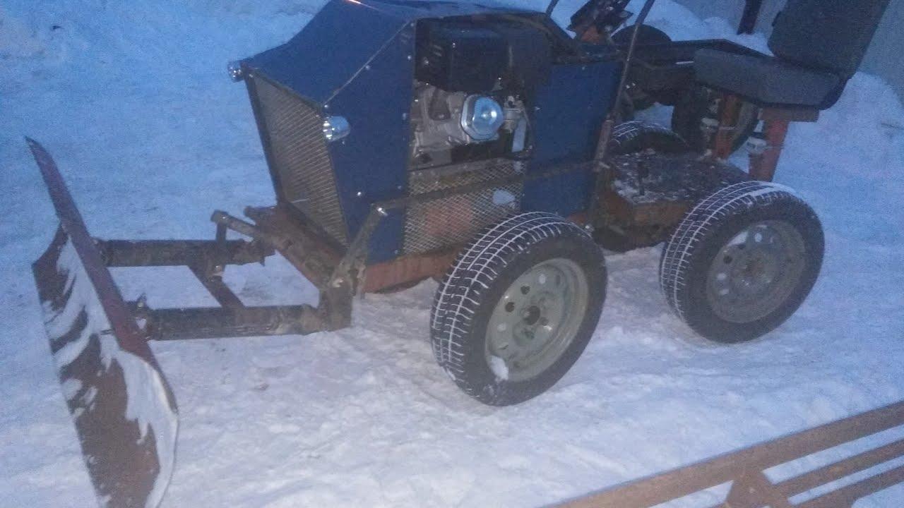 фото самоделки трактора с отвалом это