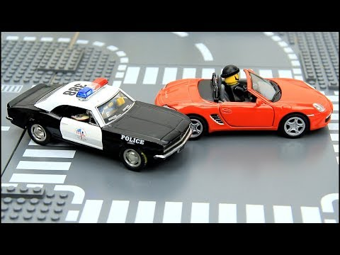 Police Chase Thief Car Video for kids