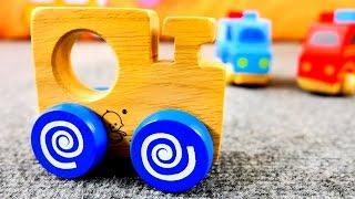 Видео для детей: Развивающие машинки! Распаковка. Полицейская и Пожарная машины. Игры для малышей