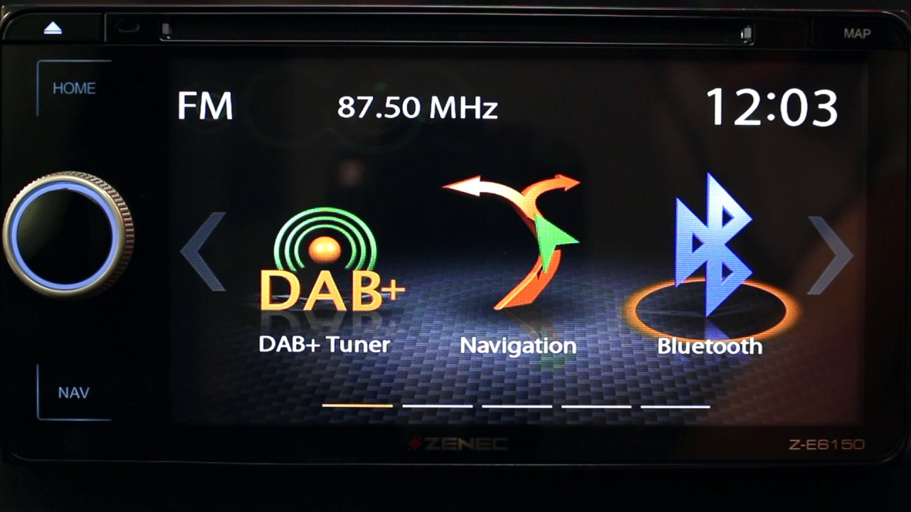 Z-E6150 Vehicle Specific DAB+ Infotainer, Navigation package