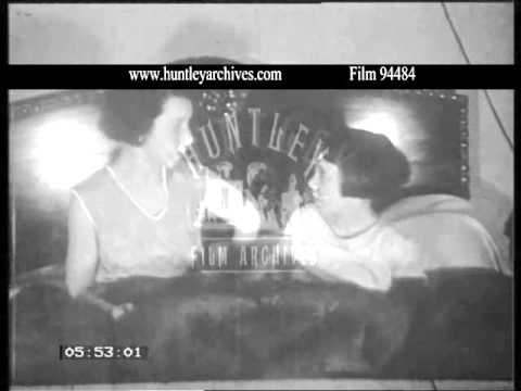 Rare 1930's domestic footage.  Woman at dressing table.  Archive film 94484