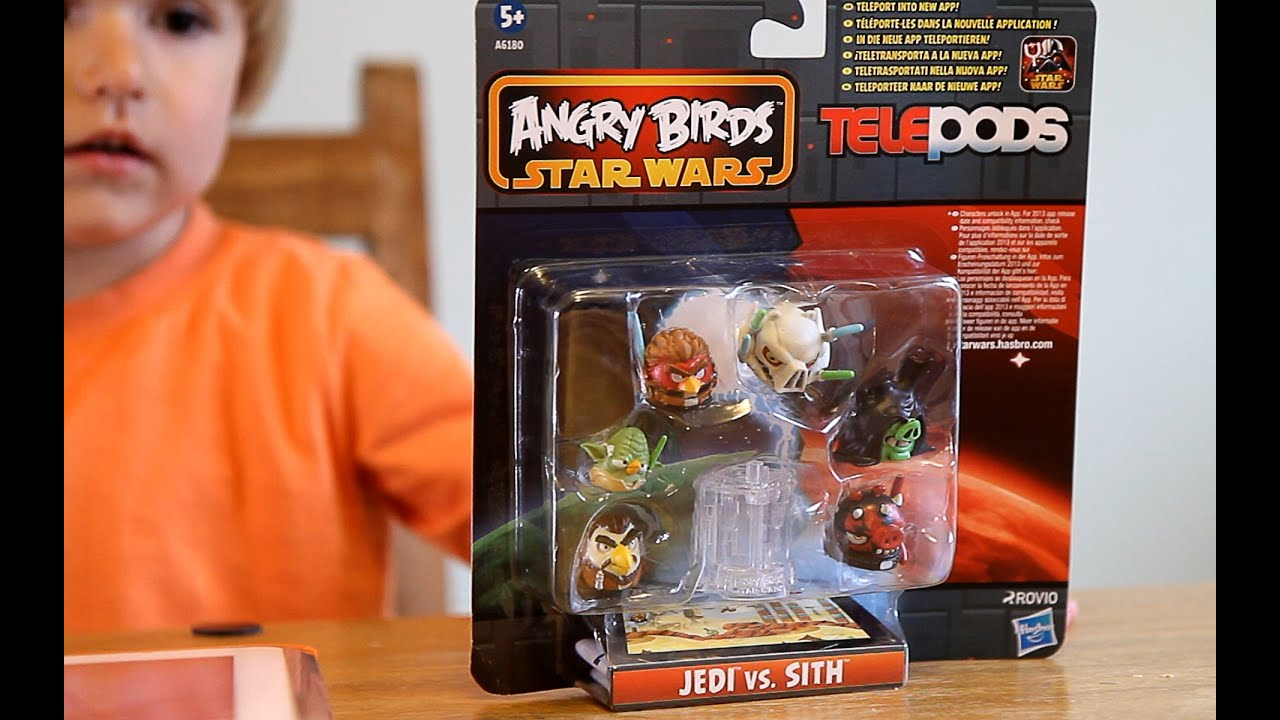 ANGRY BIRDS STAR WARS TELEPODS Obi Wan Kenobi QR Code TESTED