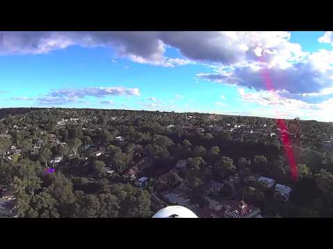 RC flight over Como, south Sydney, with views of the Georges River