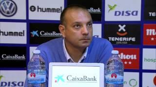 Rueda de prensa de Pepe Gálvez tras el CD Tenerife (2-1) RCD Mallorca