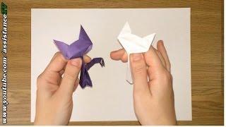 Кошечка из бумаги / Оригами из бумаги на русском