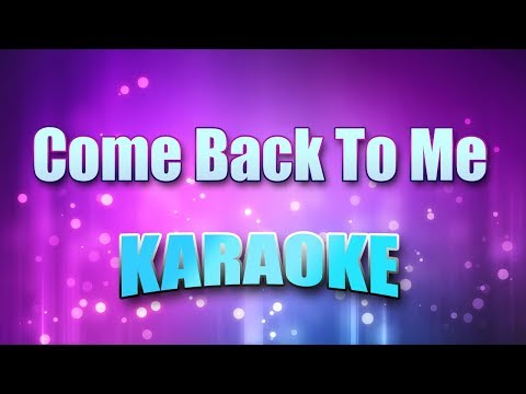 David Cook - Come Back To Me (Karaoke & Lyrics)