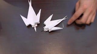 Ласточка из бумаги / Оригами из бумаги