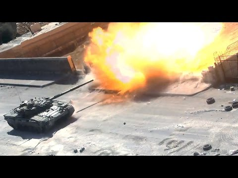 Syrian Civil War - Battle on city streets - T72 Tanks & BMP-2