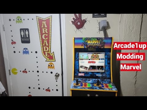 Arcade1up Marvel Super Heroes Limited Edition - Modding Our First Cabinet with RetroPie 4 from UrGamingTechie