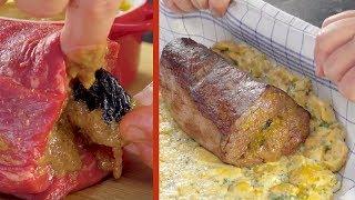 Заворачиваем мясо в чистое полотенце. Разворачиваем и наслаждаемся!