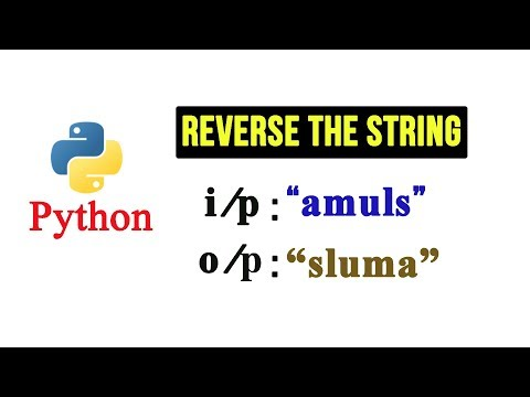 Python Tutorial - Reverse a String Using for loop thumbnail
